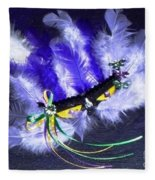 Mardi Gras On Purple Fleece Blanket
