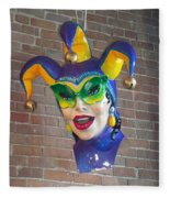 Mardi Gras Fleece Blanket