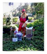 Mardi Gras Scarecrow At Bellingrath Gardens Fleece Blanket