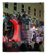Mardi Gras Vampire Float  2 Fleece Blanket