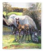 Mare And Foal Fleece Blanket