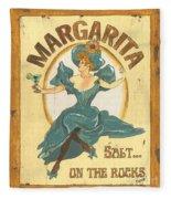 Margarita Salt On The Rocks Fleece Blanket
