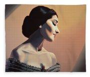 Maria Callas Painting Fleece Blanket