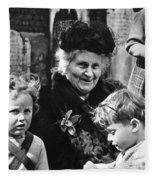 Maria Montessori Fleece Blanket