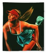 Maria Sharapova  Fleece Blanket