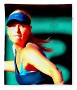 Maria Sharapova Tennis Fleece Blanket