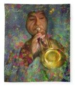 Mariachi Trumpet Player Fleece Blanket