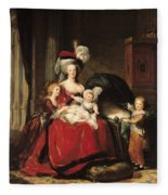 Marie Antoinette And Her Children Fleece Blanket