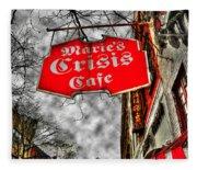 Marie's Crisis Cafe Fleece Blanket
