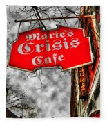 Marie's Crisis Cafe Fleece Blanket
