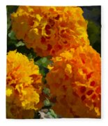 Marigold Mops Fleece Blanket