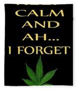 Marijuana 4 Fleece Blanket