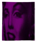 Marilyn And Mona Purple Fleece Blanket
