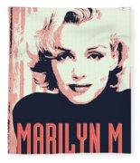 Marilyn M Fleece Blanket