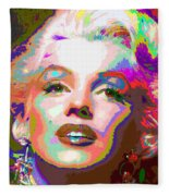 Marilyn Monroe 01 - Abstarct Fleece Blanket