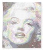 Marilyn Monroe 01 - Parallel Hatching Fleece Blanket