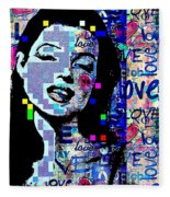Marilyn Monroe 3 Loved.lost.loved Again Fleece Blanket