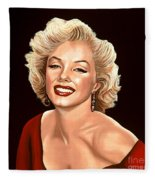 Marilyn Monroe 3 Fleece Blanket