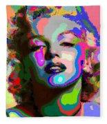 Marilyn Monroe - Abstract 1 Fleece Blanket