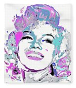 Marilyn Monroe I Want To Be Loved By You Fleece Blanket