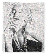 Marilyn Monroe In Mosaic Fleece Blanket