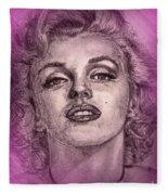 Marilyn Monroe In Pink Fleece Blanket