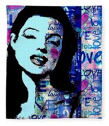 Marilyn Monroe. Loved Lost . Loved Again 2 Fleece Blanket