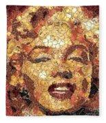 Marilyn Monroe On The Way Of Arcimboldo Fleece Blanket