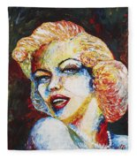 Marilyn Monroe Original Palette Knife Painting Fleece Blanket