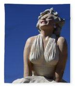 Marilyn Monroe Statue 2 Fleece Blanket