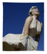 Marilyn Monroe Statue 3 Fleece Blanket