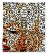 Marilyn Monroe - Stone Rock'd Art Painting Fleece Blanket