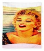 Marilyn Monroe Tribute Silked Curves Fleece Blanket