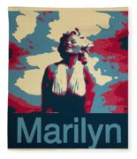 Marilyn Poster Fleece Blanket