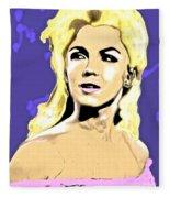 Marilyn What A Beautiful Girl Fleece Blanket