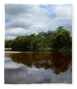 Marimbus River Brazil Reflections 4 Fleece Blanket