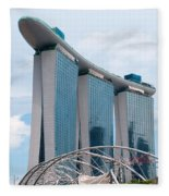 Marina Bay Sands Hotel 01 Fleece Blanket