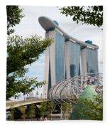 Marina Bay Sands Hotel 02 Fleece Blanket