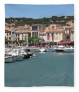 Marina Cassis Fleece Blanket