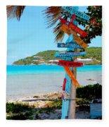 Marina Cay Sign Fleece Blanket