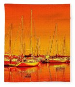 Marina Reflections Fleece Blanket