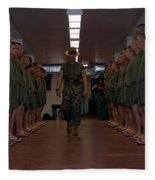Marine Basic Training Fleece Blanket