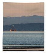 Marine Traffic Fleece Blanket