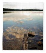 Marion Lake Reflections Fleece Blanket