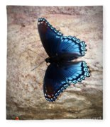 Mariposa Azul Fleece Blanket