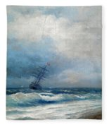 Maritime Scene Fleece Blanket