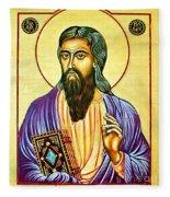 Mark The Evangelist Icon Fleece Blanket