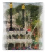 Mark Twain Riverboat Frontierland Disneyland Vertical Photo Art 01 Fleece Blanket