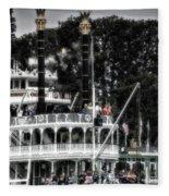 Mark Twain Riverboat Frontierland Disneyland Vertical Sc Fleece Blanket