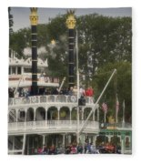 Mark Twain Riverboat Frontierland Disneyland Vertical Fleece Blanket